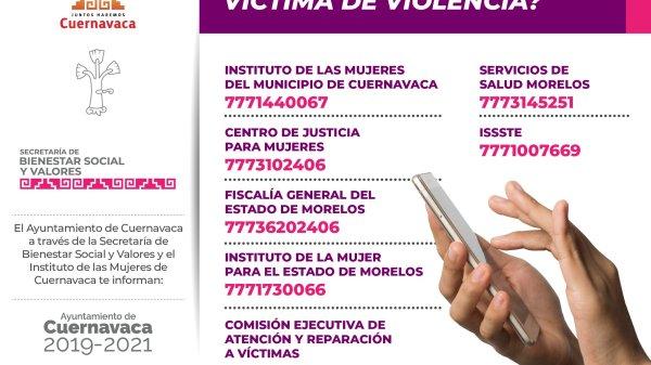 ¿A dónde acudir si eres víctima de violencia en Cuernavaca?