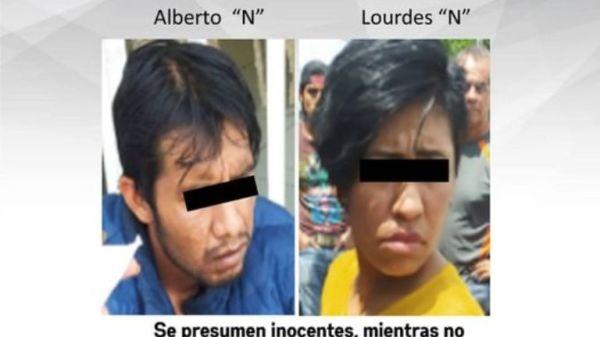 Pareja detenida por robo de motocicleta en Emiliano Zapata