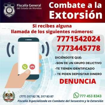 Denuncian llamadas de extorsión con números de lada 777
