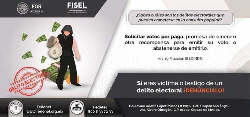 consulta electoral delitos electorales