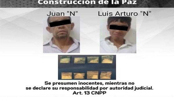"""Detenidos dos hombres con """"crystal"""" y por agredir a funcionarios de la Policía en Jiutepec Morelos"""