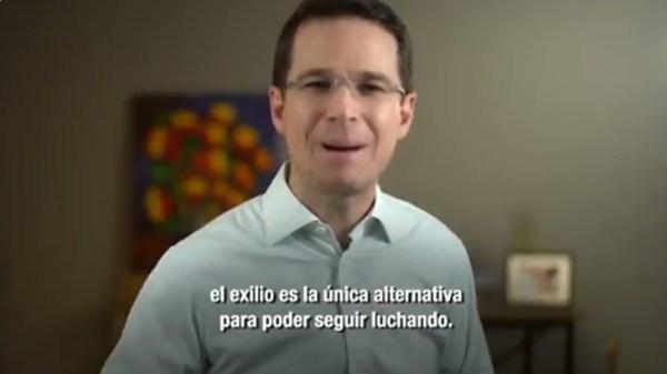 Ricardo Anaya exilio