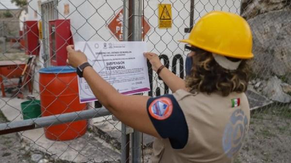 Suspenden actividades explosivas en minas ubicadas en periferia de la colonia Vista Hermosa en el municipio de Jiutepec ante amenaza de deslave