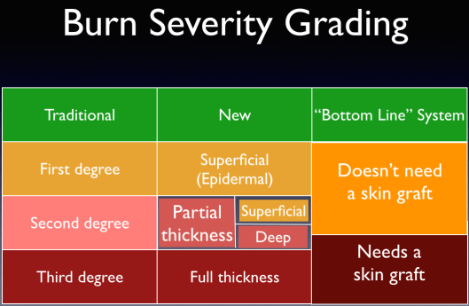 Burn Severity Grading