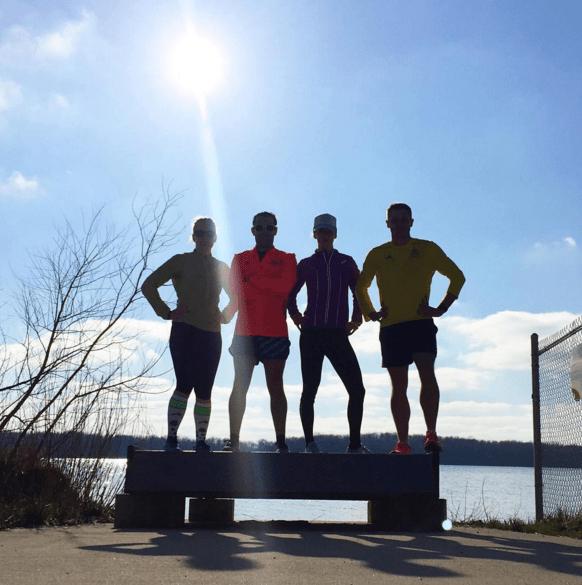 Post 21.6 KM run in Muncie, Indiana