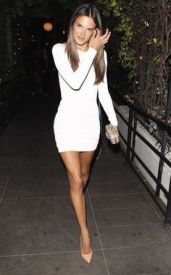 Nude Pumps with white dress