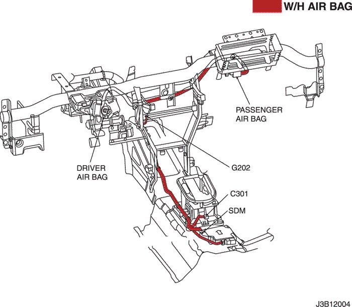 Электросхемы подушки безопасности (модуль датчиков и