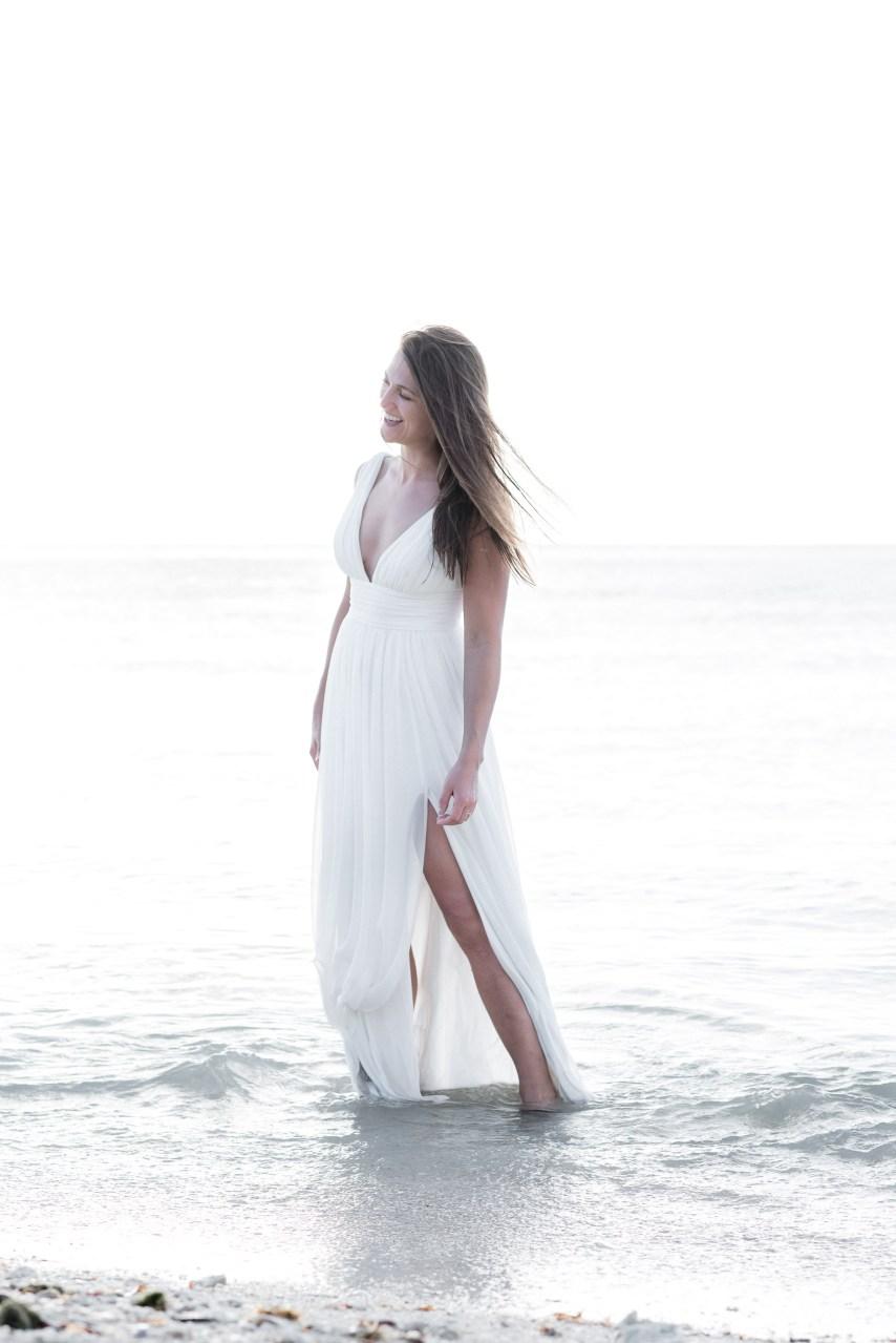 bride in the ocean