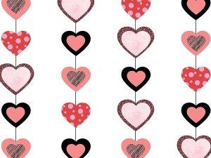 Hanging Hearts Vertical photo backdrop