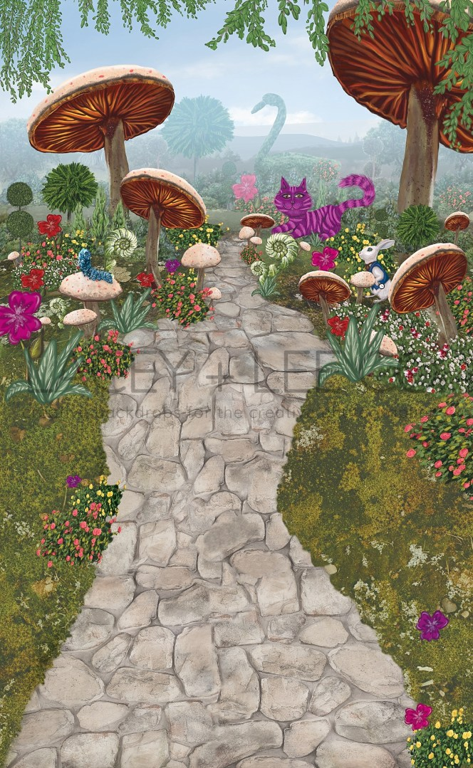 Alice in Wonderland Cake Smash Photography Backdrop