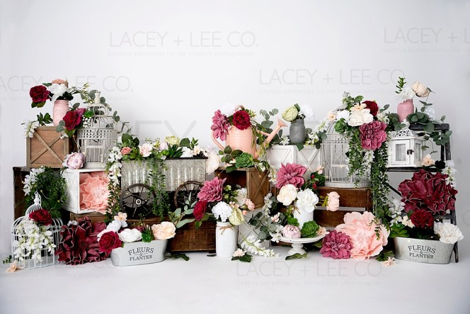Flower Stand Spring photo backdrop