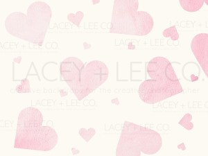 Water color pink hearts photo backdrop