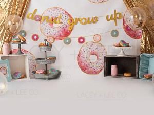 Donut grow up cake smash Photography Backdrop