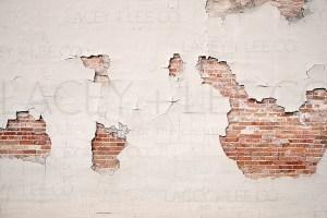 Falling plaster and brick photo backdrop