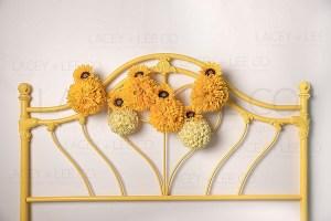 Golden Sunflower Headboard