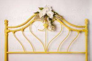 White and Yellow Floral Backdrop