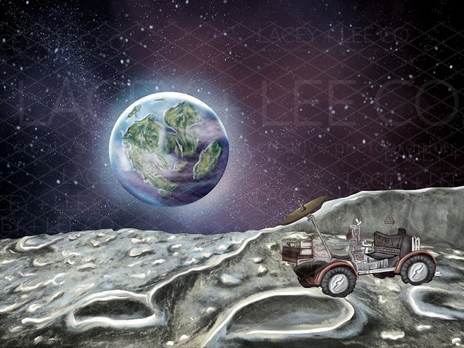 Moon Landing with Rover
