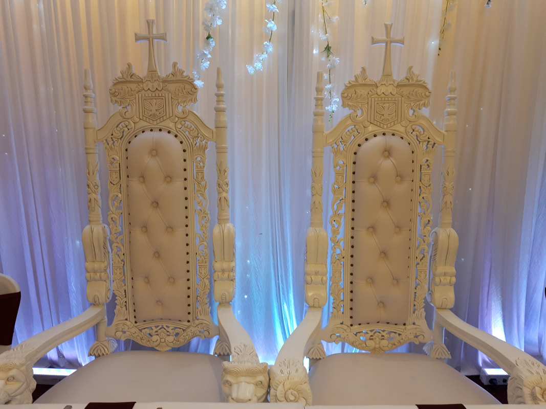 King And Queen Throne Chairs For Rent Wedding Stages And Throne Chair Hire Laceys Event