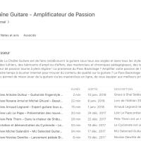 Répertoire de podcasts guitare