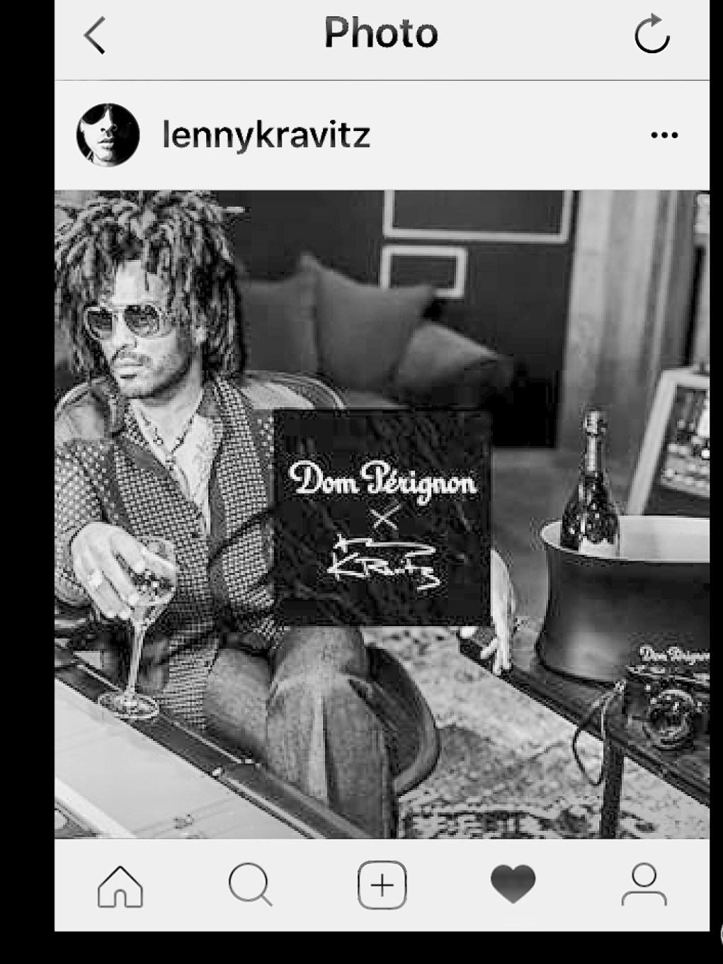 Nouvelle collaboration de Dom Perignon avec Lenny Kravitz.