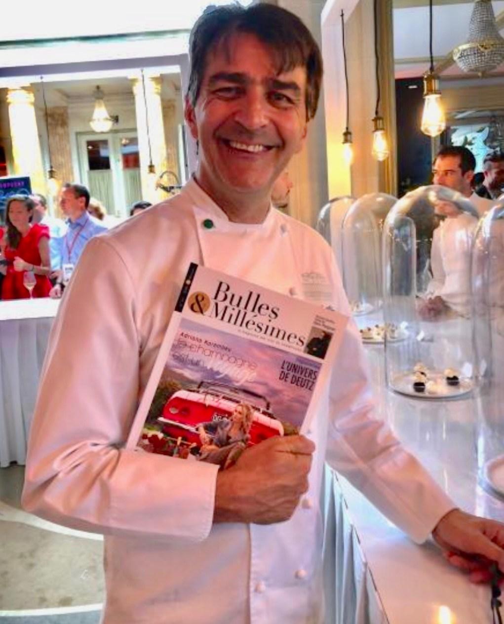 Yannick Alléno désigné Champenois de l'année par le magazine Bulles & Millésimes.