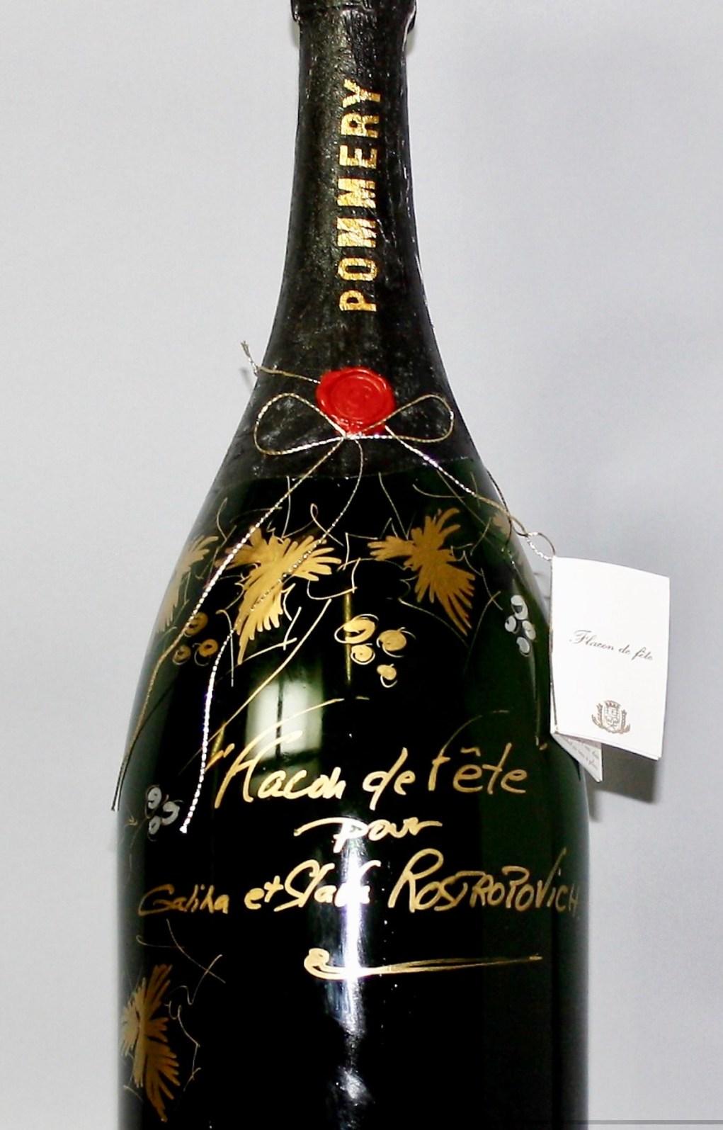 Flacon d'exception « Flacon de fête pour Galina et «Slava» Rostropovich » signé Patrick Berthaud.