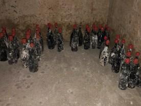 Les bouteilles retrouvées ont été cirées pour préserver les bouchons.