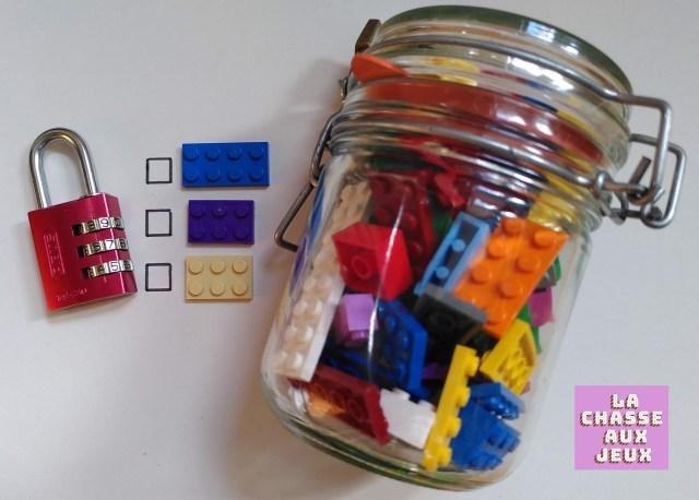 Comptez les briques de la bonne couleur pour trouver le code