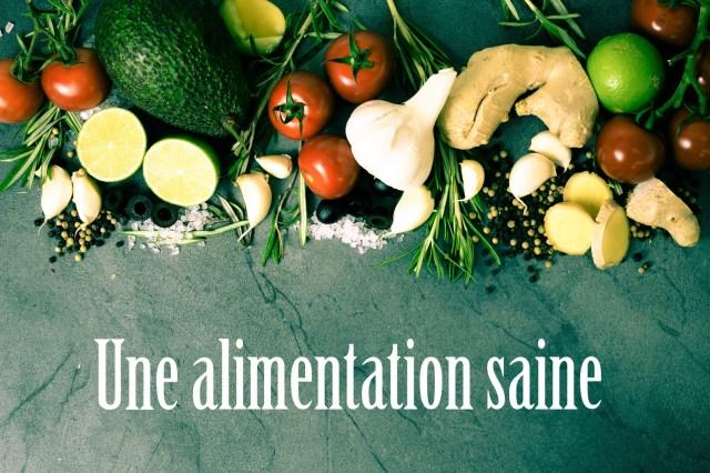 une alimentation saine, manger bio et bon c'est important pour la santé