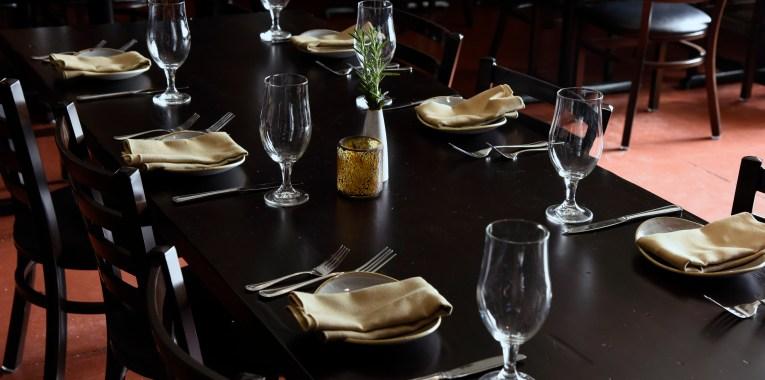 empty dinning area