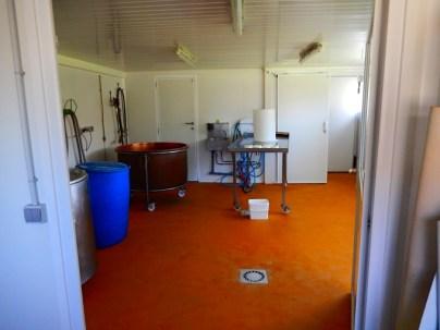 le labo de transfo, spacieux et lumineux.