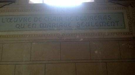 petit rappel dans l'église de Chevaigné-du-Maine