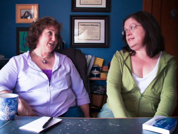 Authors: Susan Donovan and Celeste Bradley in an excerpt from LOVE BETWEEN THE COVERS
