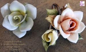 rose vintage ceramica dipinta
