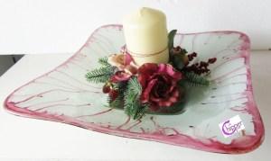 centrtoavola trasparente con fiori lachipper.com