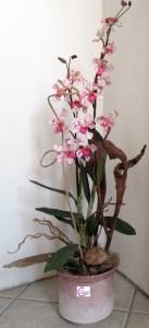vaso decorato effetto spugnato lachipper.com