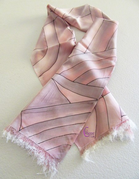 sciarpa di seta dipinta a mano SC001 lachipper.com