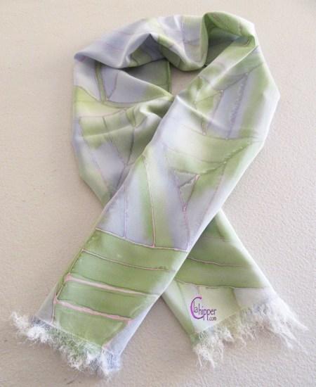 sciarpa di seta dipinta a mano lachipper.com
