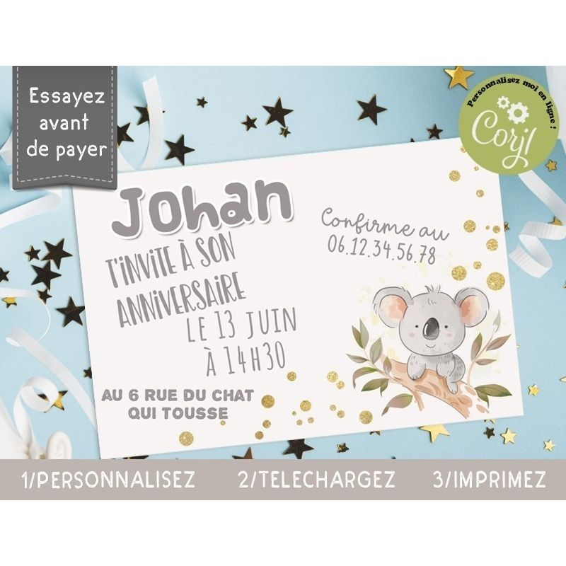 cartons d invitation anniversaire a imprimer