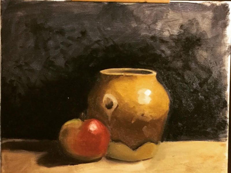 still life painting critique