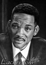 Will Smith graphite and carbon pencil portrait