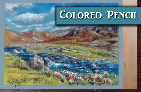 Colored Pencil Landscape Tutorial