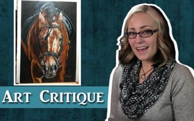 Colored Pencil Horse Drawing Critique