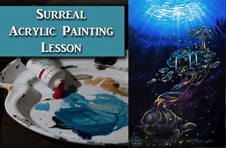 Surreal Acrylic Painting Demonstration
