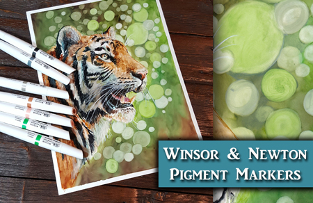 Winsor & Newton Pigment Marker Review + Demo