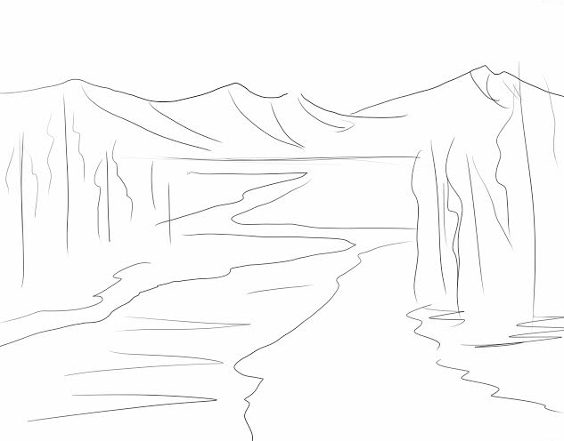 landscape-line-drawing