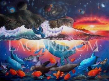 surreal marine acrylic painting