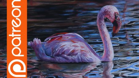 Patreon  Flamingo Colored Pencil Lesson  Lachri Fine Art