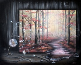Surreal acrylic painting