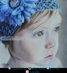 Little girl in colored pencil